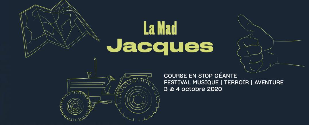 visuel mad jacques course en stop les 3-4 octobre 2020
