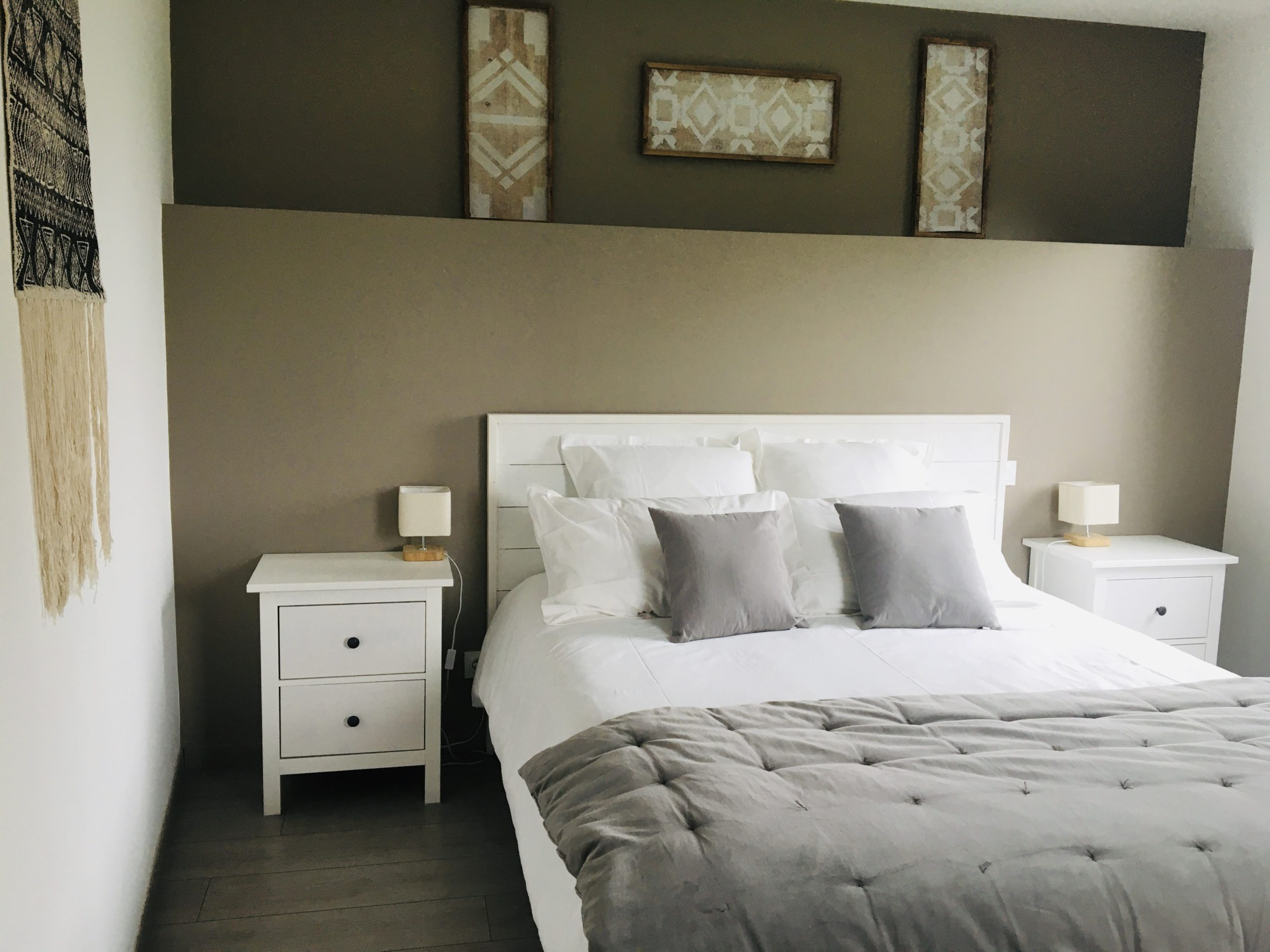 chambre jolie déco grise