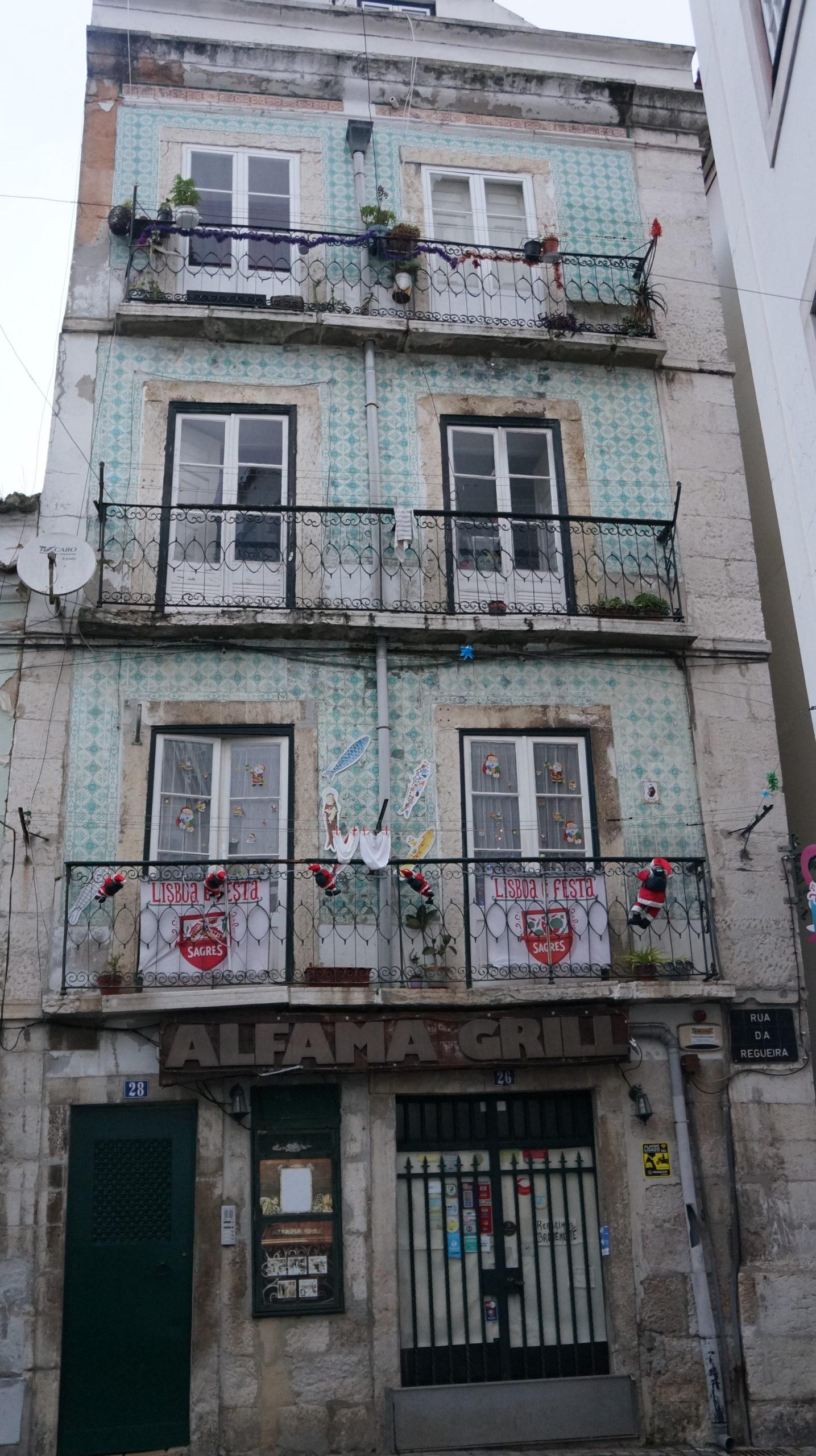 immeuble azulejos lisbonne