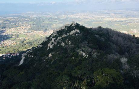 vue sur montagne palais pena